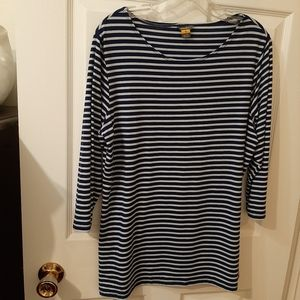 Navy& blue top classic nautical stripe